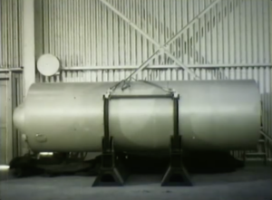Castle Bravo - The SHRIMP shortly before its installation in its shot cab