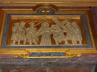 Jean-Marie Valentin - One of Valentin's Stations of the Cross in Rennes Cathedral