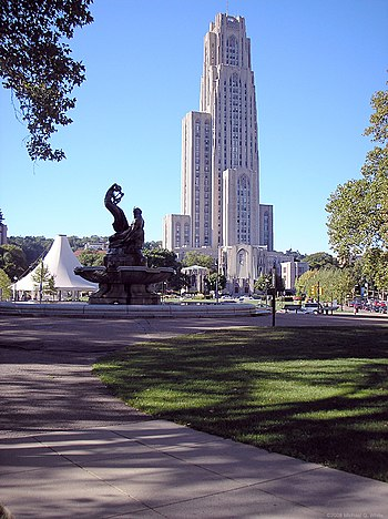 The Cathedral of Learning as viewed from the F...