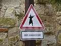 Caution of noise sign in the Castle of Eger.jpg