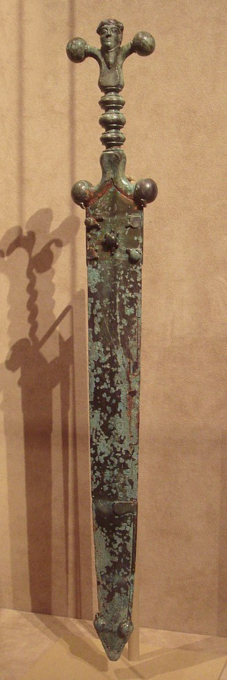 Gauls - Celtic sword and scabbard circa 60 BC
