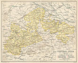 Central India Agency - Central India Agency in 1909