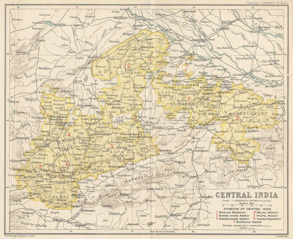 Location of Bhopal Agency