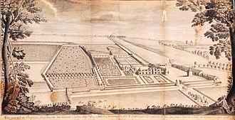 Château de Chanteloup - Image: Château de Chanteloup, 1708 perspective view – Gallica 2007 (composite)