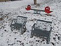 Chairs and seesaw, Temető utca, 2019 Pesthidegkút-Ófalu.jpg