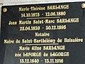 Champniers cimetière-et-Reilhac plaque maire St Barthélemy.JPG
