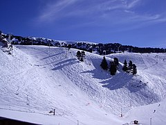 Part of the ski area, viewed from Recoin
