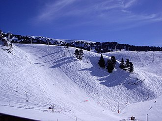 Chamrousse - Part of the ski area, viewed from Recoin