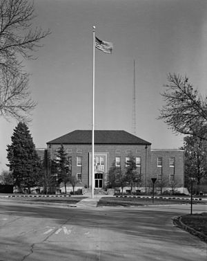 Chanute Air Force Base - Chanute Air Force Base Headquarters and Administrative Building.