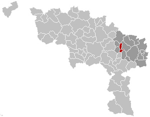 Chapelle-lez-Herlaimont - Image: Chapelle lez Herlaimont Hainaut Belgium Map