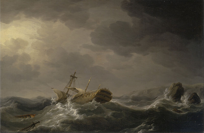 File:Charles Brooking - Ship wrecked on a rocky coast - Google Art Project.jpg