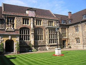 London Charterhouse - The Great Hall viewed from Master's Court