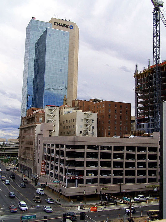 Chase's southwest regional headquarters in Phoenix, Arizona. Chase Tower, Downtown PHX.jpg