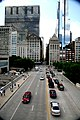 """Chicago (ILL) Downtown, E Monroe St. """" Mid continental plaza """" 1972 & """" Legacy Tower """" 2009 (4825769809).jpg"""