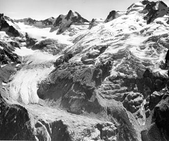 Dome Peak - Chickamin Glacier, east face of Dome Peak (1965)