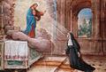 Chiesa di Roncello - altare maggiore - Apparizione del Sacro Cuore a Santa Margherita.jpg