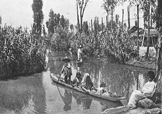Chinampa - Chinampas and canals, 1912.