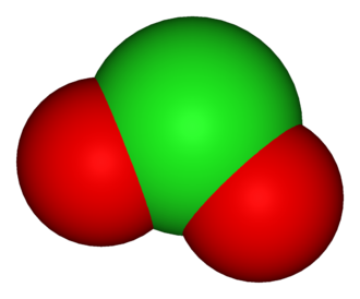 Polyatomic ion - The chlorite ion