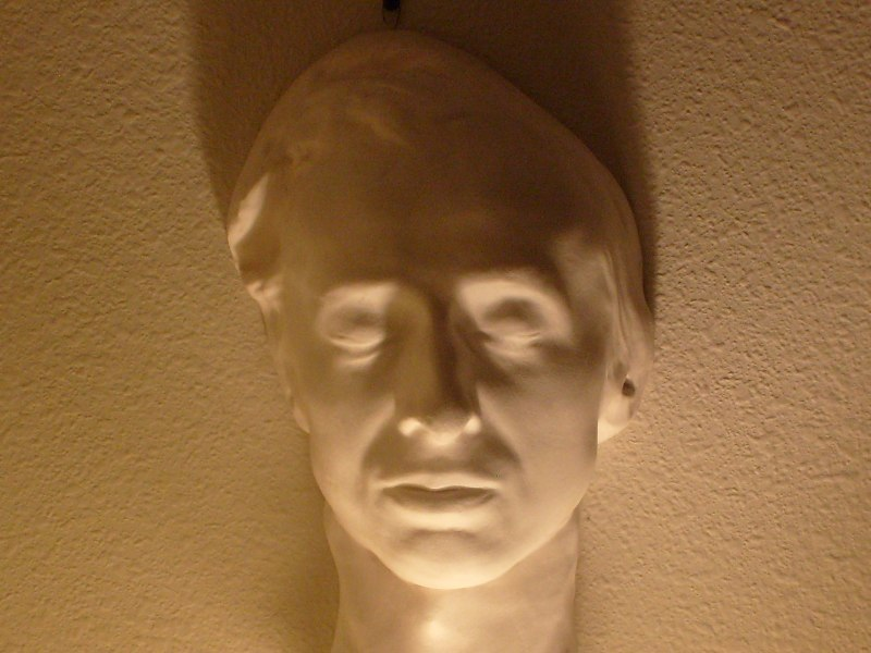 Chopin death mask (collection of Jack Gibbons)