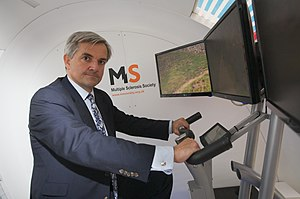 English: Chris Huhne, British politician, at t...