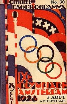 Affiche des Jeux de la IXe Olympiade.