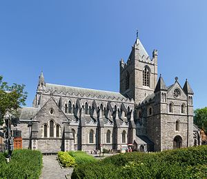 Archbishop of Dublin - Christ Church Cathedral, Dublin, the episcopal seat of the pre-Reformation and Church of Ireland archbishops.