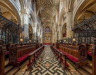 Nave of Christ Church Cathedral looking to the altar Christ Church Cathedral Interior 2, Oxford, UK - Diliff.jpg