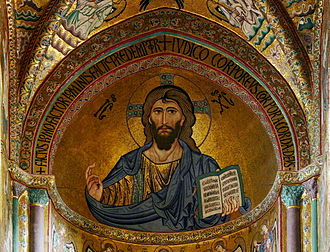 Mark 12 - Christus Pantokrator, apsis of the cathedral of Cefalù