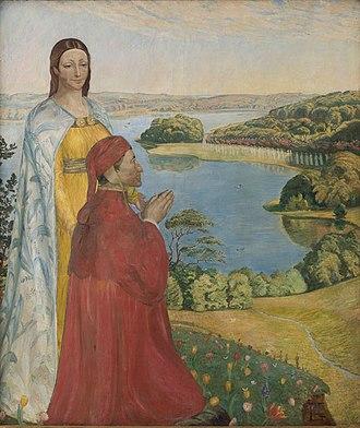 Poul Simon Christiansen - Image: Christiansen Dante and Beatrice in Paradise 1893