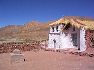 El Loa - Church in Machuca, El Loa Province