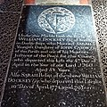 Church of St Mary the Virgin, Woodnesborough, Kent - William Docksey ledger stone slab.jpg