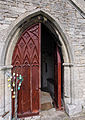 Church of the Holy Cross Great Ponton Lincolnshire England - south porch door.jpg