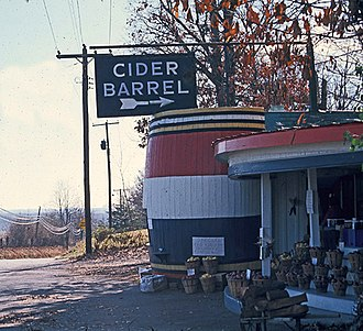 Germantown, Maryland - Cider Barrel in 1966