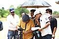 Cinemetographer Prashant Chauhan (In yellow shirt with black cap) during short film shooting of ´Hausla Aur Raste´ along with Film Director Roshan Bhondekar (In white cap with white Tshirt).jpg