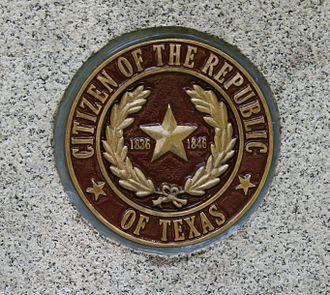 Glenwood Cemetery (Houston, Texas) - Marker designating the gravesite of a citizen of the Republic of Texas
