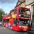 City Sightseeing bus in Oxford, England 08 - Magdalen Street.jpg