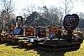 City of London Cemetery - six grave monuments - Newham London England.jpg