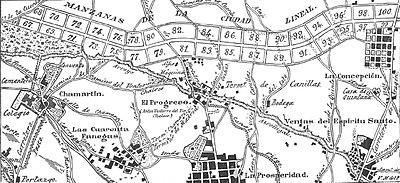 Ciudad Lineal Madrid Mapa.Ciudad Lineal Urbanismo Wikipedia La Enciclopedia Libre
