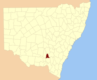 Clarendon County, New South Wales - Location in New South Wales