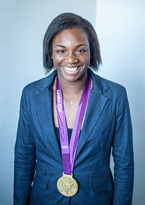 Claressa Shields - Shields with her Olympic gold medal in 2012