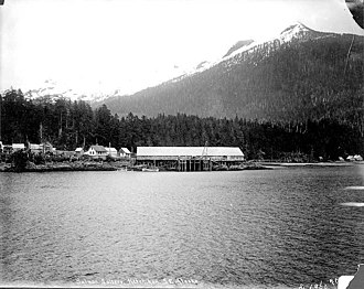Ketchikan, Alaska - Clark and Martin salmon saltery, 1897