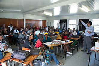 Outcome-based education - A High School class in Cape Town, South Africa