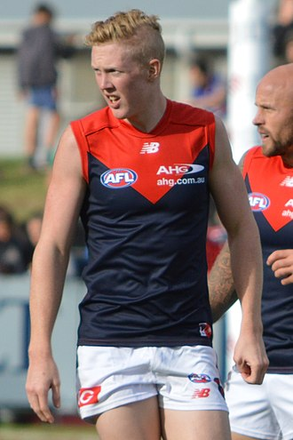 Clayton Oliver - Oliver playing for Melbourne in the 2017 JLT Community Series