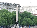 Cleopatras needle - view from embankment London.JPG