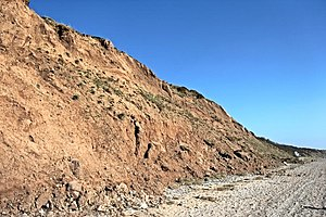 Dee Cliffs - Image: Cliff face, Thurstaston Beach (geograph 2865961)