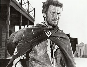 Antihero - Revisionist Western films commonly have an antihero as the lead character who is morally ambiguous. Clint Eastwood, pictured here in A Fistful of Dollars (1964), portrayed the Man with No Name, an archetypal antihero, in the Spaghetti Western Dollars Trilogy.