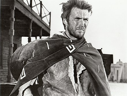 As the Man with No Name in A Fistful of Dollars (1964) Clint Eastwood - 1960s.JPG