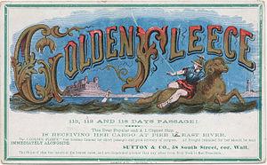 Golden Fleece (clipper) - Sailing card