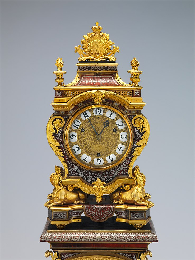 Andr Charles Boulle circa 1690 Clock with pedestal