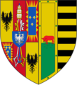 Coat of arms of Lucrezia Borgia, Duchess of Ferrara.png